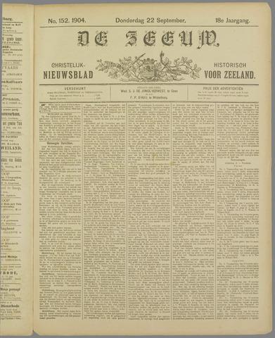 De Zeeuw. Christelijk-historisch nieuwsblad voor Zeeland 1904-09-22