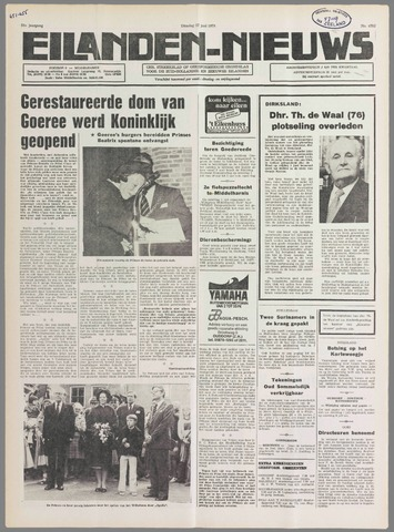 Eilanden-nieuws. Christelijk streekblad op gereformeerde grondslag 1978-06-27