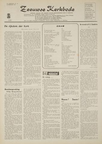 Zeeuwsche kerkbode, weekblad gewijd aan de belangen der gereformeerde kerken/ Zeeuwsch kerkblad 1969-02-20