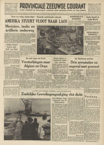 Provinciale Zeeuwse Courant 1962-05-14