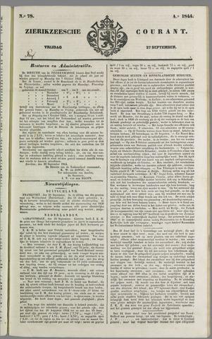 Zierikzeesche Courant 1844-09-27