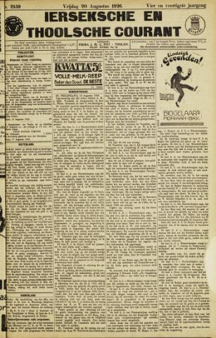 Ierseksche en Thoolsche Courant 1926-08-20