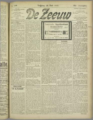 De Zeeuw. Christelijk-historisch nieuwsblad voor Zeeland 1921-05-13