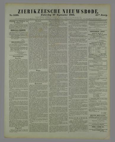 Zierikzeesche Nieuwsbode 1888-09-29