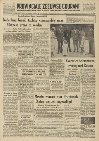 Provinciale Zeeuwse Courant 1958-06-19