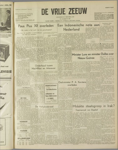 de Vrije Zeeuw 1958-10-09