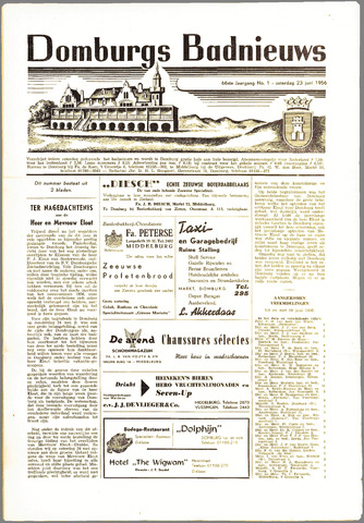 Domburgsch Badnieuws 1956
