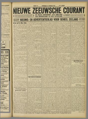 Nieuwe Zeeuwsche Courant 1928-08-23