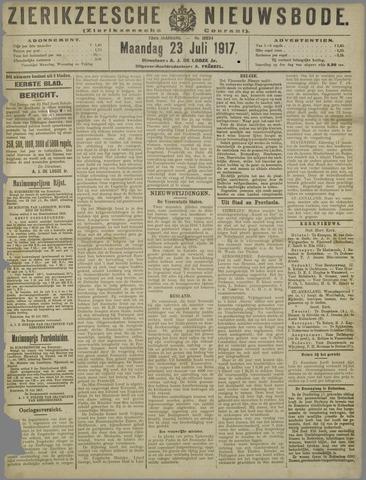 Zierikzeesche Nieuwsbode 1917-07-23