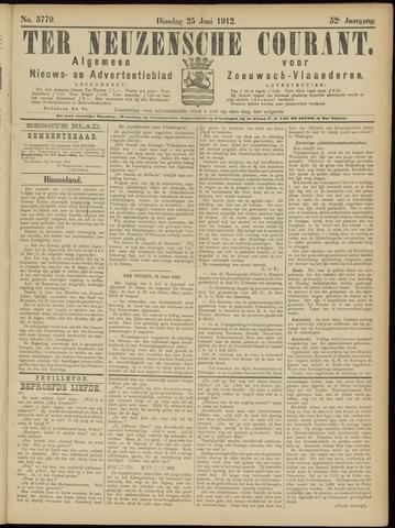 Ter Neuzensche Courant. Algemeen Nieuws- en Advertentieblad voor Zeeuwsch-Vlaanderen / Neuzensche Courant ... (idem) / (Algemeen) nieuws en advertentieblad voor Zeeuwsch-Vlaanderen 1912-06-25