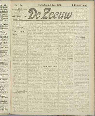 De Zeeuw. Christelijk-historisch nieuwsblad voor Zeeland 1916-06-26