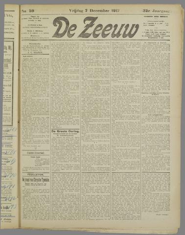 De Zeeuw. Christelijk-historisch nieuwsblad voor Zeeland 1917-12-07