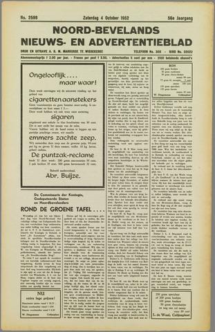 Noord-Bevelands Nieuws- en advertentieblad 1952-10-04