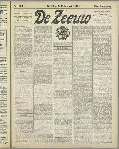 De Zeeuw. Christelijk-historisch nieuwsblad voor Zeeland 1924-02-05