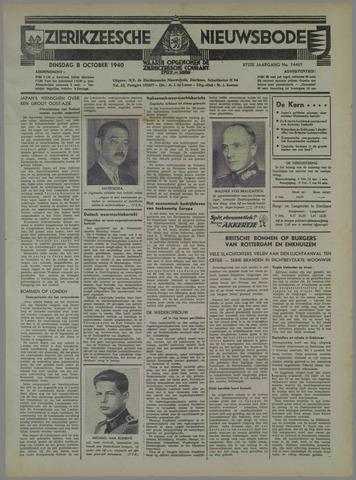 Zierikzeesche Nieuwsbode 1940-10-08