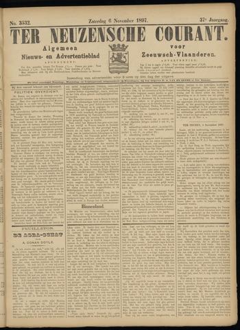 Ter Neuzensche Courant. Algemeen Nieuws- en Advertentieblad voor Zeeuwsch-Vlaanderen / Neuzensche Courant ... (idem) / (Algemeen) nieuws en advertentieblad voor Zeeuwsch-Vlaanderen 1897-11-06