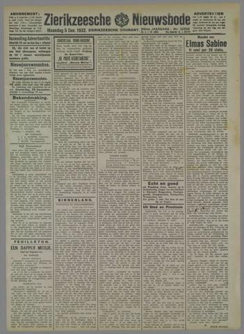Zierikzeesche Nieuwsbode 1932-12-05