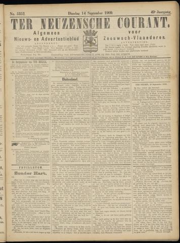 Ter Neuzensche Courant. Algemeen Nieuws- en Advertentieblad voor Zeeuwsch-Vlaanderen / Neuzensche Courant ... (idem) / (Algemeen) nieuws en advertentieblad voor Zeeuwsch-Vlaanderen 1909-09-14