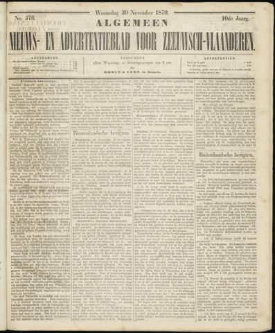 Ter Neuzensche Courant. Algemeen Nieuws- en Advertentieblad voor Zeeuwsch-Vlaanderen / Neuzensche Courant ... (idem) / (Algemeen) nieuws en advertentieblad voor Zeeuwsch-Vlaanderen 1870-11-30