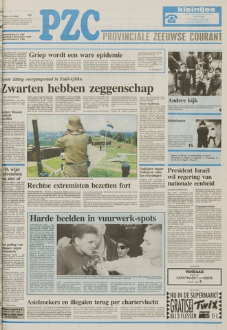 Provinciale Zeeuwse Courant 1993-12-08