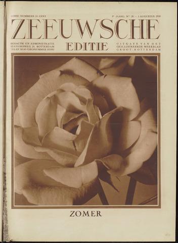 Ons Zeeland / Zeeuwsche editie 1930-08-01