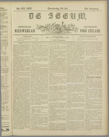 De Zeeuw. Christelijk-historisch nieuwsblad voor Zeeland 1902-07-24