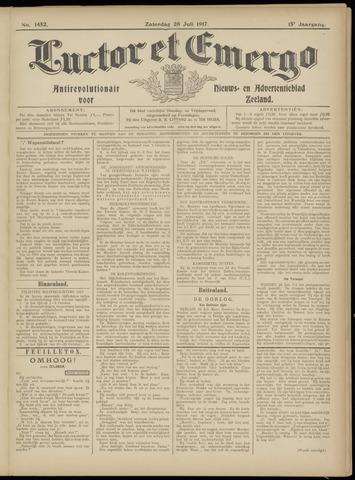 Luctor et Emergo. Antirevolutionair nieuws- en advertentieblad voor Zeeland / Zeeuwsch-Vlaanderen. Orgaan ter verspreiding van de christelijke beginselen in Zeeuwsch-Vlaanderen 1917-07-28