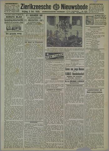 Zierikzeesche Nieuwsbode 1930-10-03