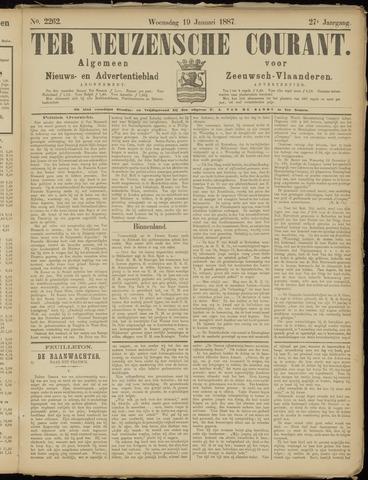 Ter Neuzensche Courant. Algemeen Nieuws- en Advertentieblad voor Zeeuwsch-Vlaanderen / Neuzensche Courant ... (idem) / (Algemeen) nieuws en advertentieblad voor Zeeuwsch-Vlaanderen 1887-01-19