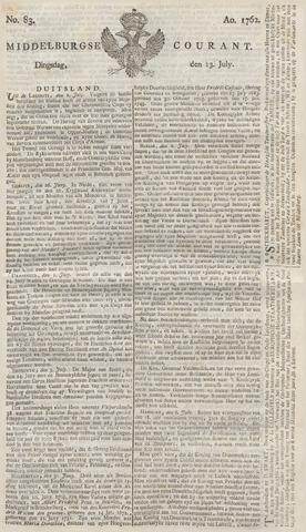 Middelburgsche Courant 1762-07-13