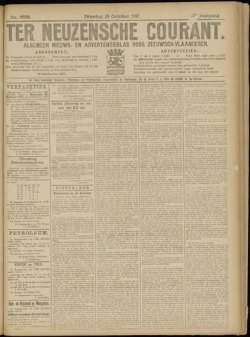 Ter Neuzensche Courant. Algemeen Nieuws- en Advertentieblad voor Zeeuwsch-Vlaanderen / Neuzensche Courant ... (idem) / (Algemeen) nieuws en advertentieblad voor Zeeuwsch-Vlaanderen 1917-10-16