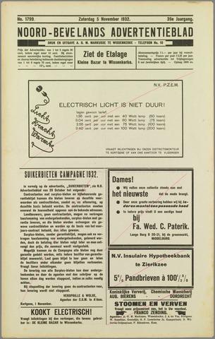 Noord-Bevelands Nieuws- en advertentieblad 1932-11-05