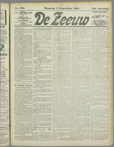 De Zeeuw. Christelijk-historisch nieuwsblad voor Zeeland 1918-09-02