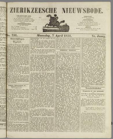Zierikzeesche Nieuwsbode 1851-04-07