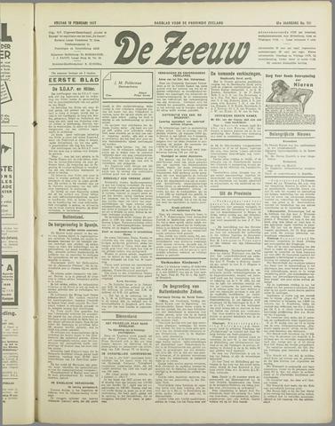 De Zeeuw. Christelijk-historisch nieuwsblad voor Zeeland 1937-02-19