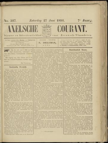 Axelsche Courant 1891-06-27