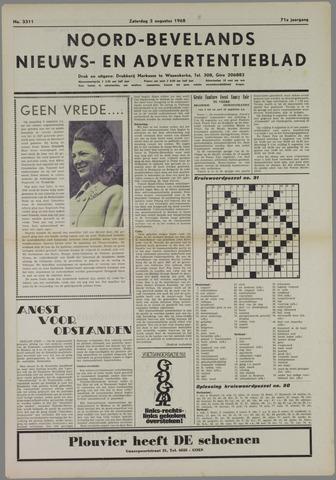 Noord-Bevelands Nieuws- en advertentieblad 1968-08-03