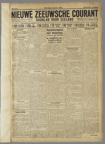 Nieuwe Zeeuwsche Courant 1922-01-02