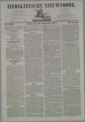 Zierikzeesche Nieuwsbode 1874-08-22