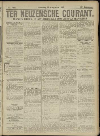 Ter Neuzensche Courant. Algemeen Nieuws- en Advertentieblad voor Zeeuwsch-Vlaanderen / Neuzensche Courant ... (idem) / (Algemeen) nieuws en advertentieblad voor Zeeuwsch-Vlaanderen 1920-08-28