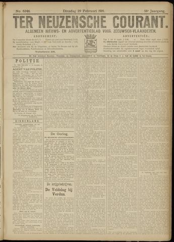 Ter Neuzensche Courant. Algemeen Nieuws- en Advertentieblad voor Zeeuwsch-Vlaanderen / Neuzensche Courant ... (idem) / (Algemeen) nieuws en advertentieblad voor Zeeuwsch-Vlaanderen 1916-02-29