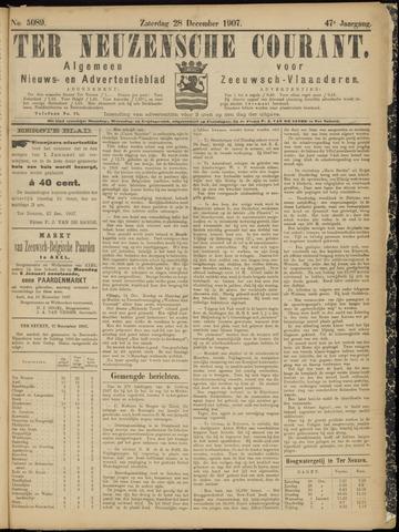 Ter Neuzensche Courant. Algemeen Nieuws- en Advertentieblad voor Zeeuwsch-Vlaanderen / Neuzensche Courant ... (idem) / (Algemeen) nieuws en advertentieblad voor Zeeuwsch-Vlaanderen 1907-12-28