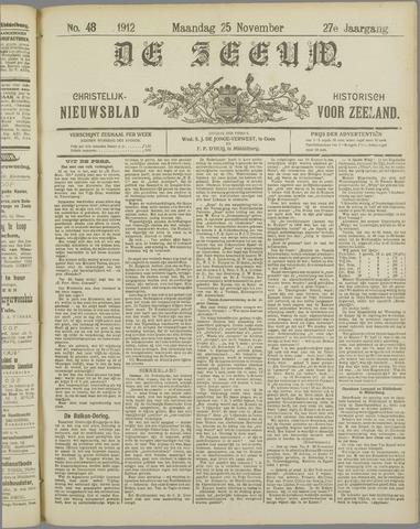 De Zeeuw. Christelijk-historisch nieuwsblad voor Zeeland 1912-11-25