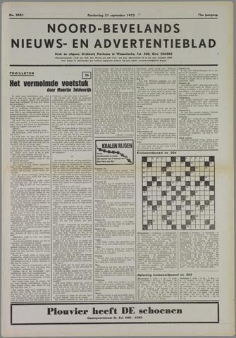Noord-Bevelands Nieuws- en advertentieblad 1972-09-21