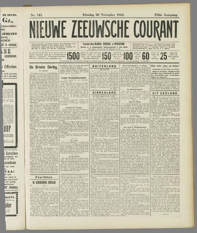 Nieuwe Zeeuwsche Courant 1915-11-30