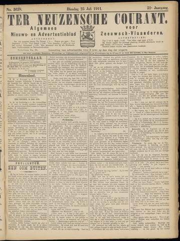 Ter Neuzensche Courant. Algemeen Nieuws- en Advertentieblad voor Zeeuwsch-Vlaanderen / Neuzensche Courant ... (idem) / (Algemeen) nieuws en advertentieblad voor Zeeuwsch-Vlaanderen 1911-07-25