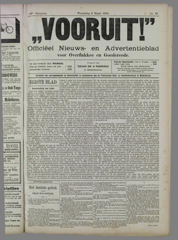 """""""Vooruit!""""Officieel Nieuws- en Advertentieblad voor Overflakkee en Goedereede 1912-03-06"""