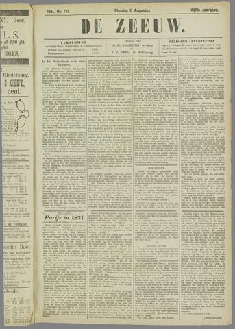 De Zeeuw. Christelijk-historisch nieuwsblad voor Zeeland 1891-08-11