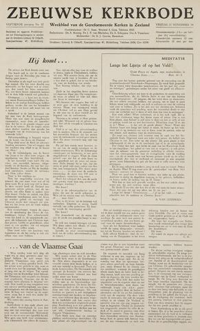 Zeeuwsche kerkbode, weekblad gewijd aan de belangen der gereformeerde kerken/ Zeeuwsch kerkblad 1959-11-27