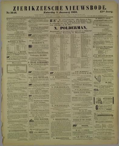 Zierikzeesche Nieuwsbode 1889-01-05
